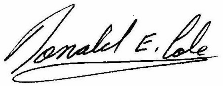 Signature of Donald Cole