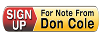 Sign Up for Note From Don Cole